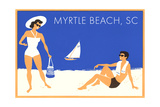 Vacation Couple at Myrtle Beach Posters