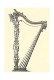 Ornate Harp Frame Print