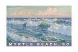Waves at Myrtle Beach Prints