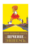 Giant Russian Girl Crossing River Posters