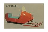 Moto-Ski, Early Snomobile Umělecké plakáty
