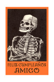 Feliz Cumpleanos, Skeleton Poster