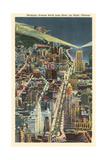 Michigan Avenue by Night, Chicago Kunstdrucke