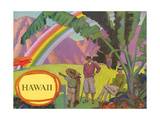 Rainbow over Hawaii Prints