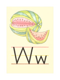 W Is for Watermelon Poster