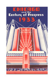 Travel Poster, Chicago World's Fair Print