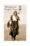 Howdy from Comfort, Texas Poster