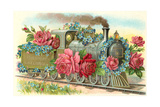 Birthday Greetings, Rose Train Prints