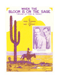 Sheet Music for Western Song Posters