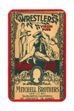 Wrestlers Olive Oil Label Art