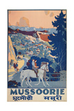 Travel Poster for Mussoorie, India Posters