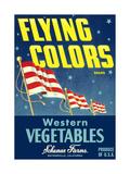 Crate Label for Flying Colors Vegetables Prints