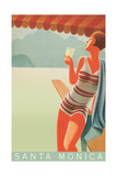 Santa Monica Travel Poster Print