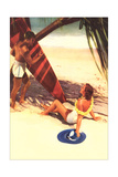 Couple Vacationing on Beach Prints