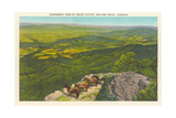 Panoramic View of Rocky Cliffs, Skyline Drive Prints
