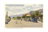 Vintage Downtown Palm Springs Giclée-Premiumdruck