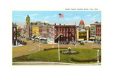 Public Square, Troy Prints