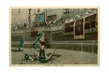 Rome, Italy, Gladiators in Coliseum Art