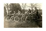 Start of Vintage Bicycle Race Print