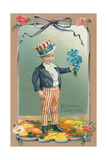 Young Patriot Birthday Greetings Prints