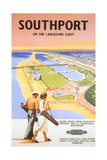 Travel Poster for Southport Prints