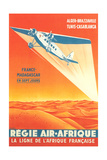 French African Airlines Poster Posters