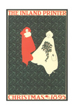 Inland Printer, Christmas, 1895 Poster