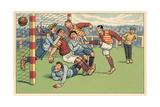 Soccer Roughhousing Art