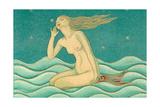 Listening Mermaid Prints