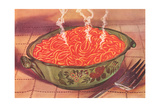 Steaming Bowl of Spaghetti Plakater