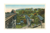 Three Bridges over Green River, Greenfield Print