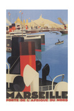 Travel Poster for Marseille Print
