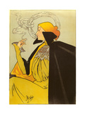 Woman with Elaborate Smoke Ring Poster