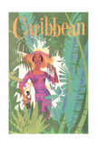 Caribbean Travel Poster Planscher