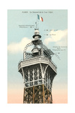 Top of the Eiffel Tower Posters