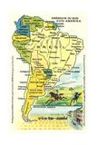 Mapa de América del Sur Posters