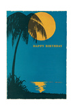 Palm Tree and Moon Posters