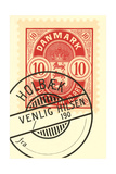 Cancelled Danish Stamp Prints
