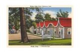 Shady Lodge Motel, Oskaloosa, Iowa Art
