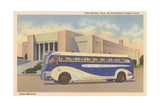 Bus in Front of Joslyn Memorial Prints
