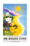 Travel Poster for Basque Coast Plakaty