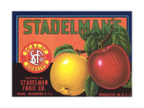 Crate Label for Stadelman's Apples Posters