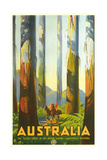 Australia Travel Poster, Trees Print