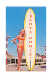 Santa Monica, Surfer Girl Prints