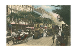 Vintage View of Boulevard Des Italiens Posters
