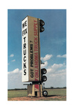 Truck Standing Vertically Poster