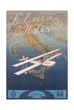 Clipper Plane over Italy Prints