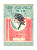 When You Dream of the Girl Sheet Music Print
