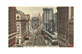 Times Square, Looking North, New York City Prints