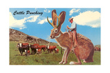 Jackalope with Cattle Posters